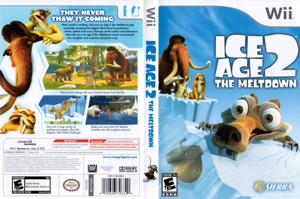 Ice Age 2: The Meltdown Wii coverfullHQ (R2AE7D)
