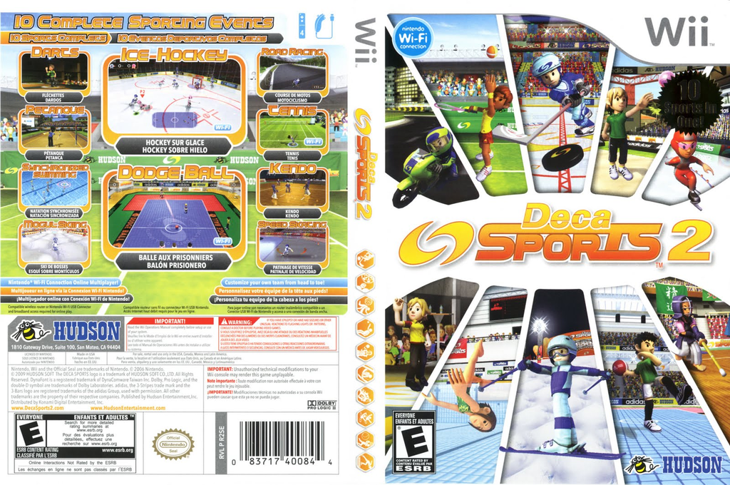 Deca Sports 2 Wii coverfullHQ (R2SE18)