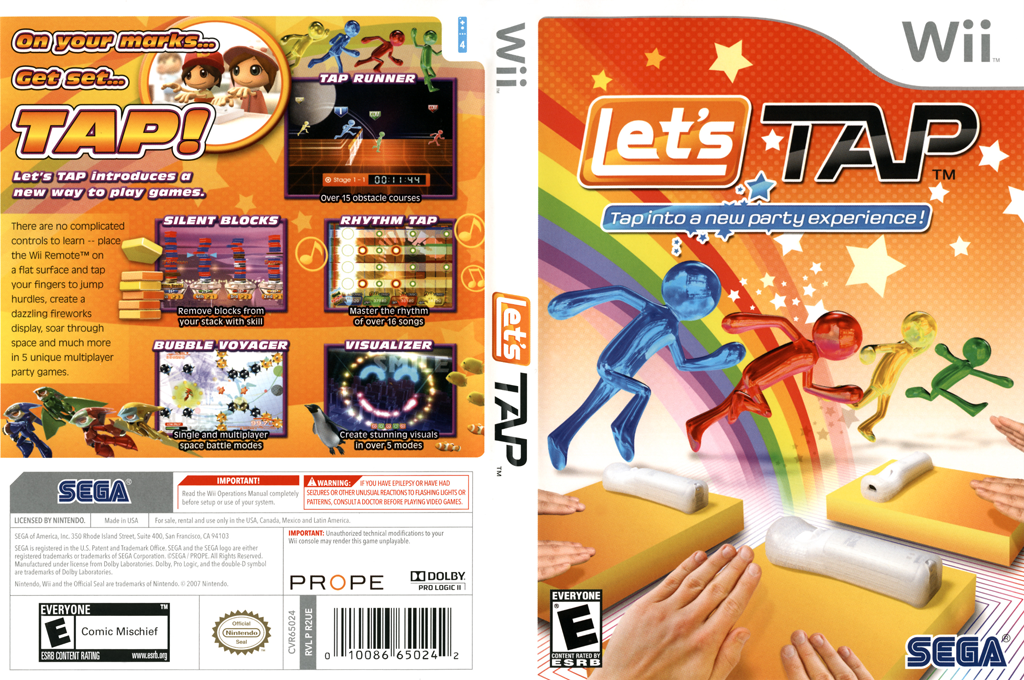 Let's Tap Wii coverfullHQ (R2UE8P)