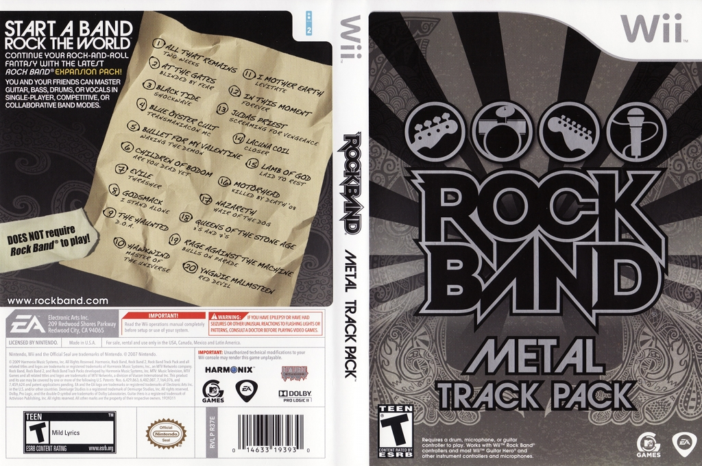 Rock Band: Metal Track Pack Wii coverfullHQ (R37E69)