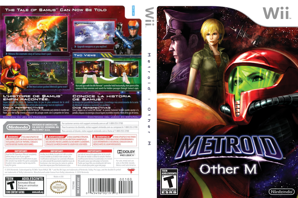 Metroid: Other M Wii coverfullHQ (R3OE01)