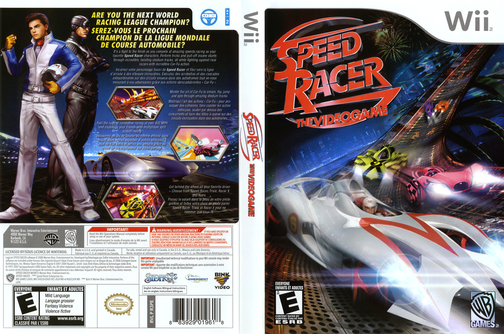Speed Racer: The Videogame Wii coverfullHQ (R3PEWR)