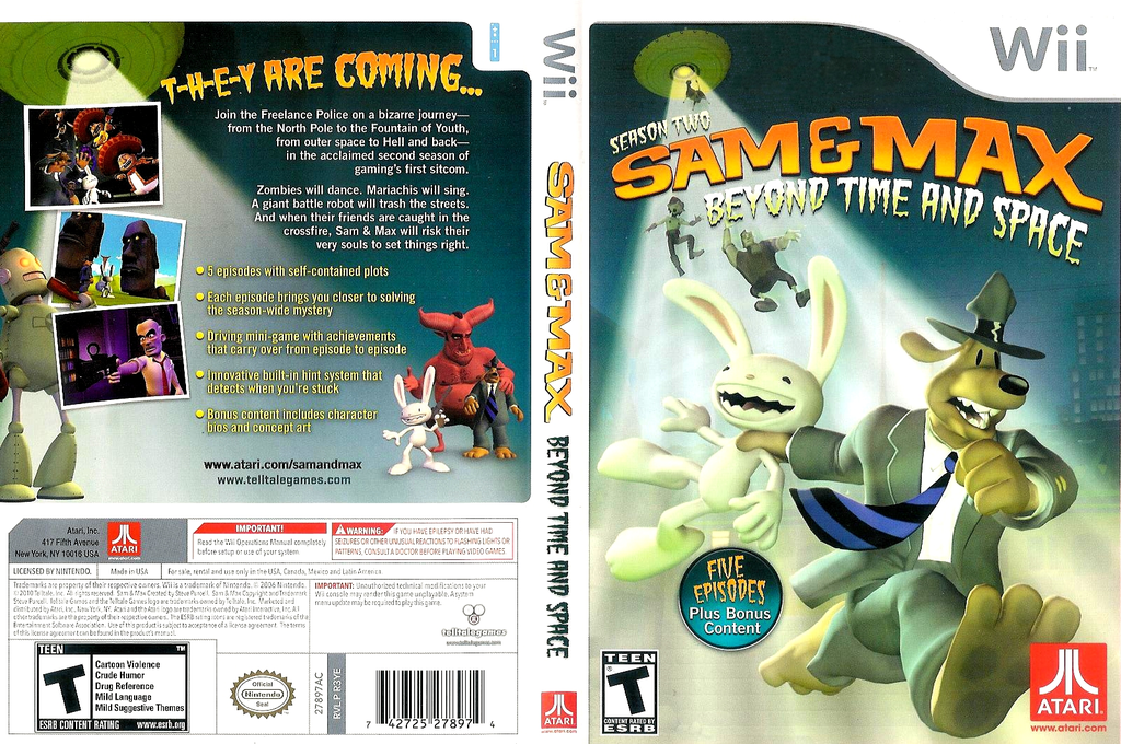 Sam & Max: Season Two: Beyond Time and Space Wii coverfullHQ (R3YE70)