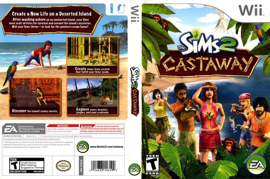 The Sims 2: Castaway Wii coverfullHQ (R42E69)