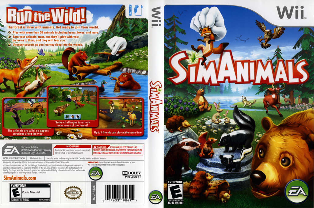 SimAnimals Wii coverfullHQ (R4AE69)