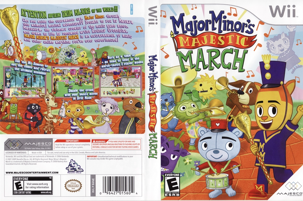 Major Minor's Majestic March Wii coverfullHQ (R4NE5G)