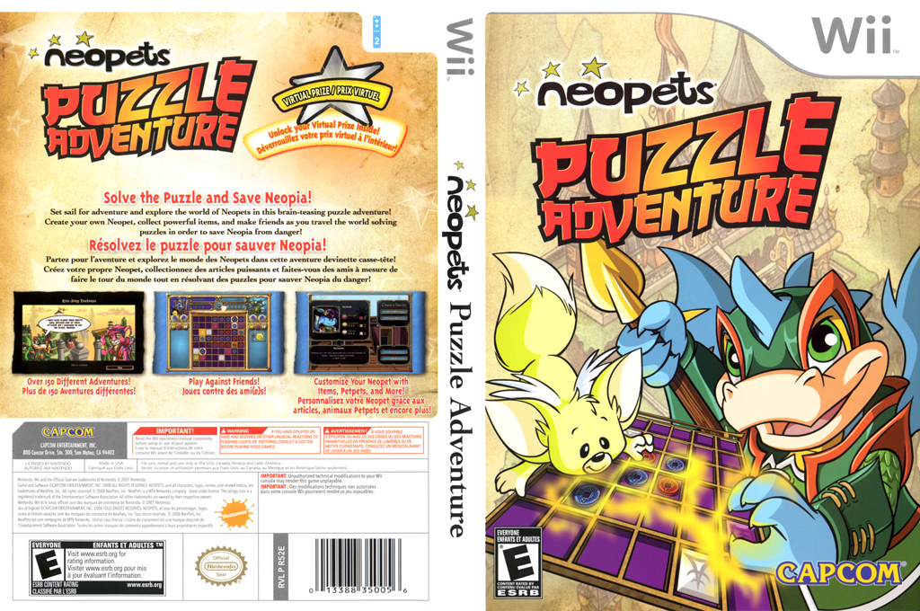 Neopets Puzzle Adventure Wii coverfullHQ (R52E08)