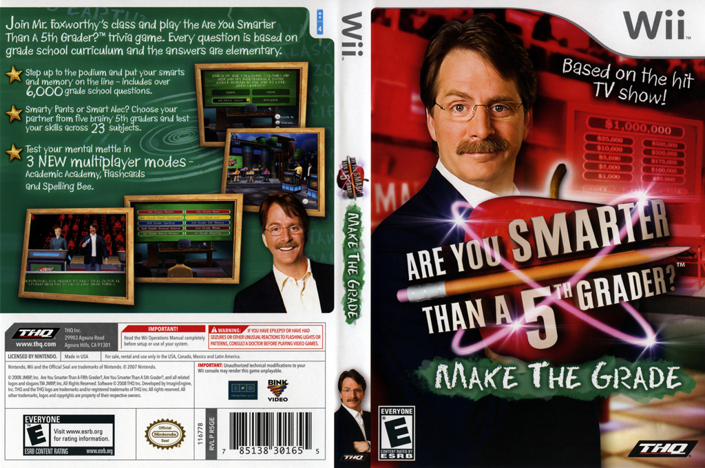 Are You Smarter Than A 5th Grader? Make the Grade Wii coverfullHQ (R5GE78)