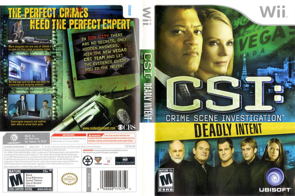 CSI: Deadly Intent Wii coverfullHQ (R5UE41)