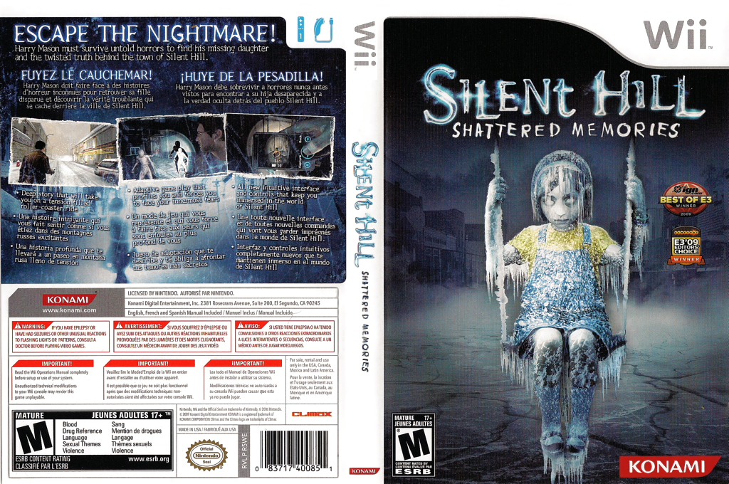 Silent Hill: Shattered Memories Wii coverfullHQ (R5WEA4)