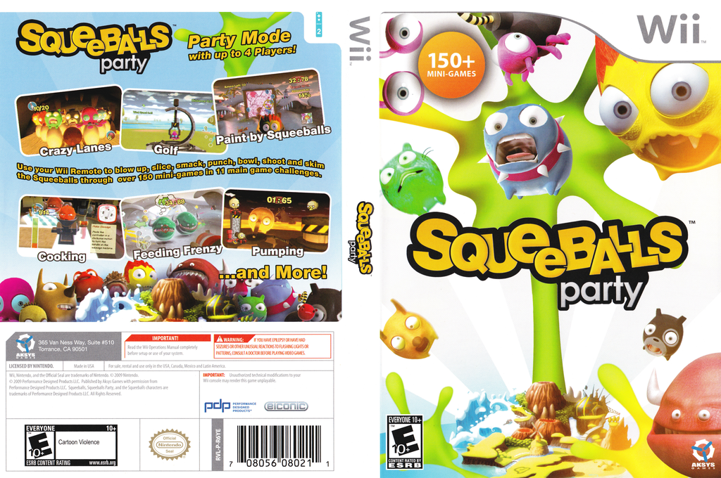 Squeeballs Party Wii coverfullHQ (R6YEXS)