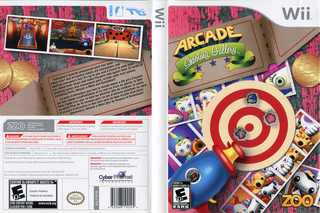 Arcade Shooting Gallery Wii coverfullHQ (R74E20)