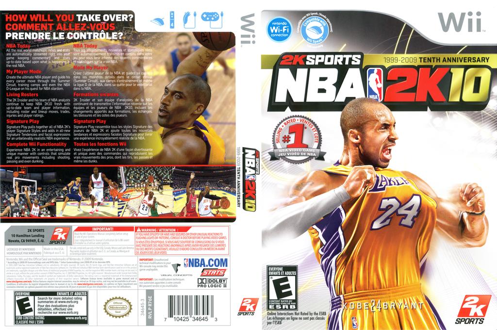 NBA 2K10 Wii coverfullHQ (R76E54)