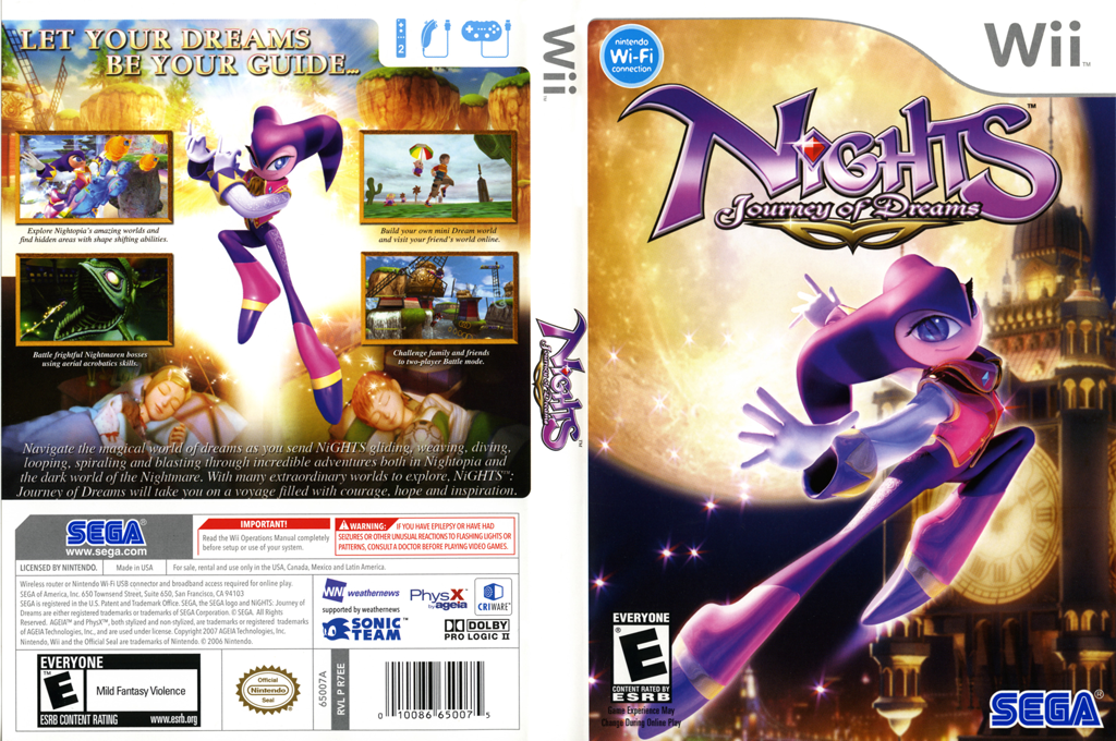 NiGHTS: Journey of Dreams Wii coverfullHQ (R7EE8P)
