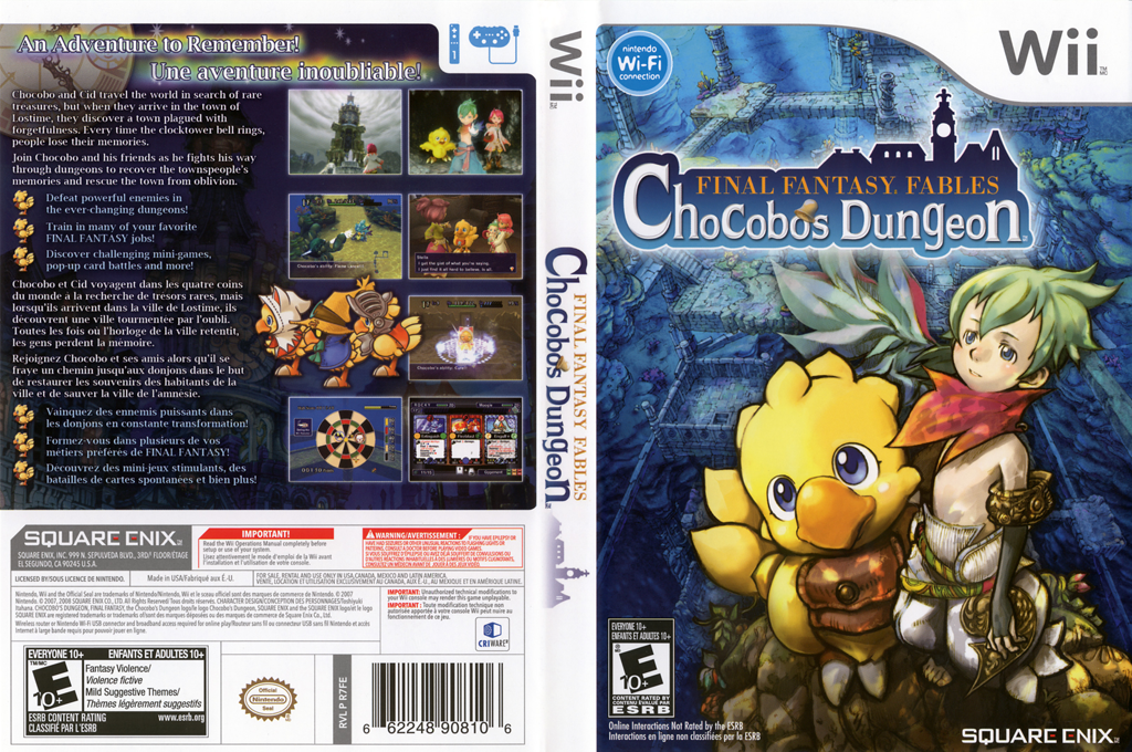 Final Fantasy Fables: Chocobo's Dungeon Undub Wii coverfullHQ (R7FEUD)