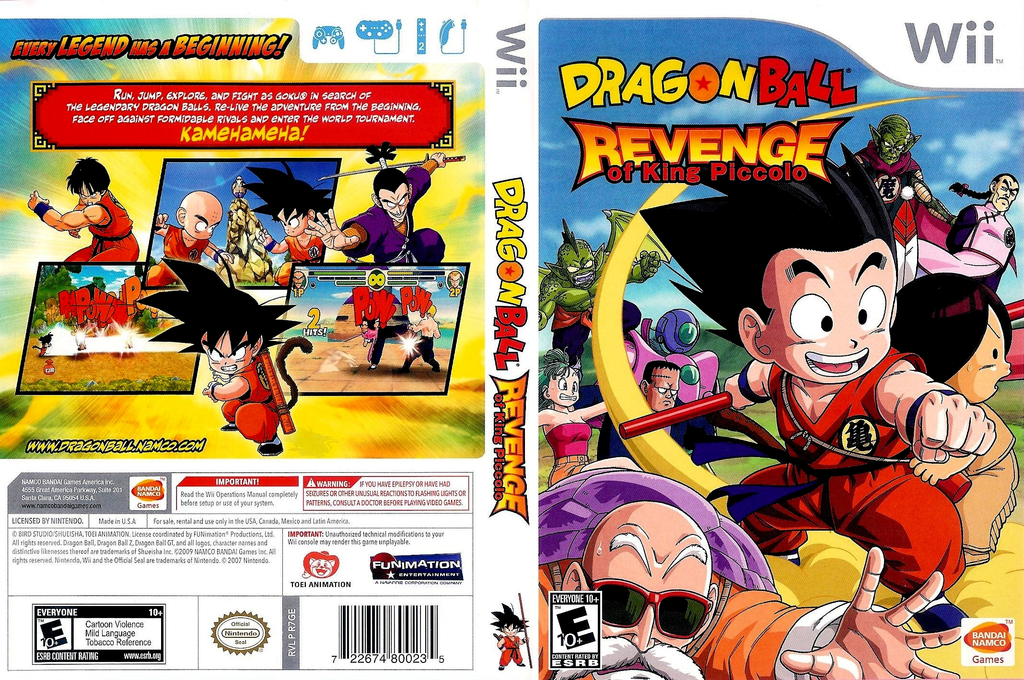 Dragon Ball: Revenge of King Piccolo Wii coverfullHQ (R7GEAF)
