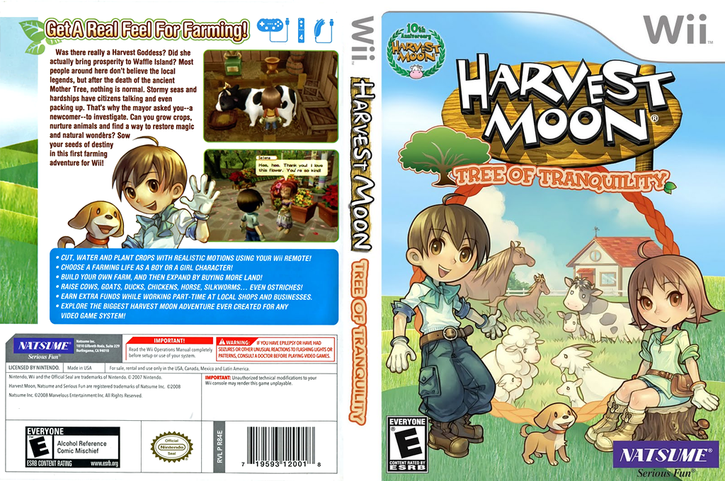 Harvest Moon: Tree of Tranquility Wii coverfullHQ (R84EE9)