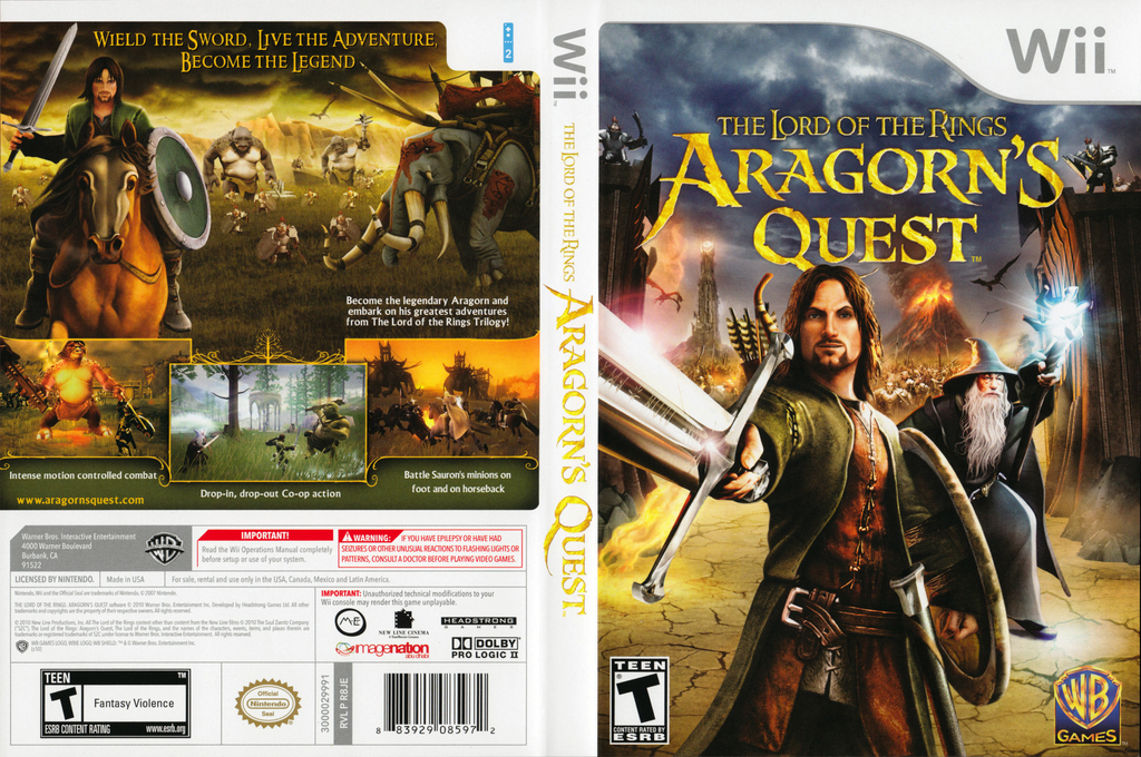 The Lord of the Rings: Aragorn's Quest Wii coverfullHQ (R8JEWR)