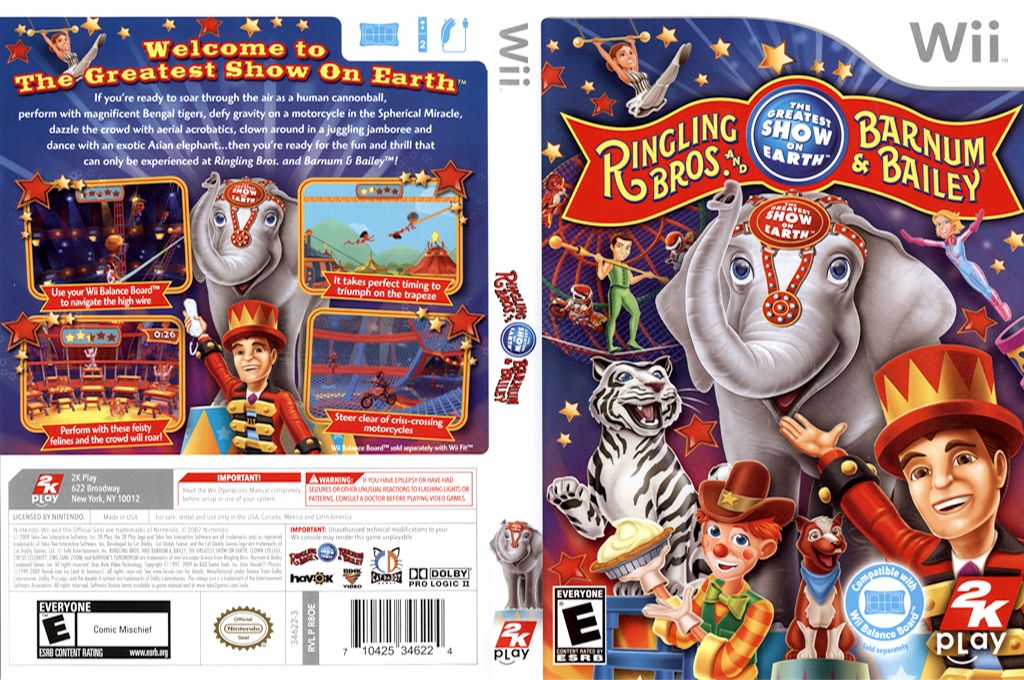 Ringling Bros. and Barnum & Bailey Circus Wii coverfullHQ (R8OE54)