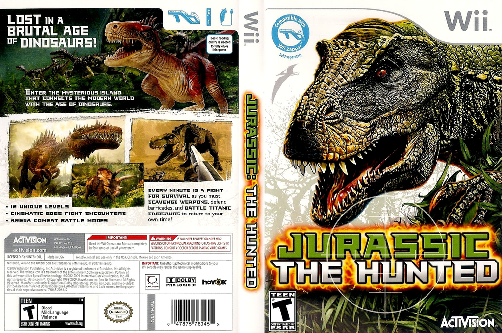 Jurassic: The Hunted Wii coverfullHQ (R8XE52)