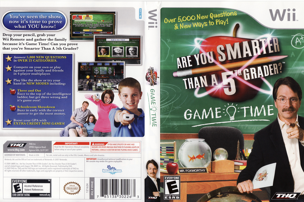 Are You Smarter Than A 5th Grader? Game Time Wii coverfullHQ (R9HE78)