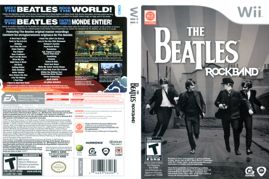 The Beatles: Rock Band Wii coverfullHQ (R9JE69)