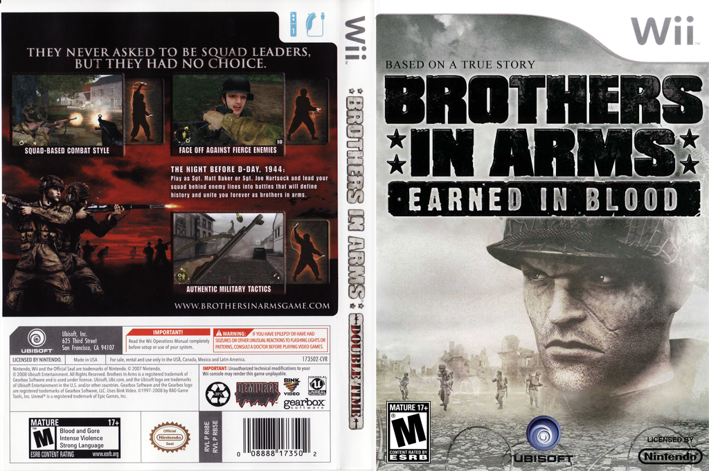 Brothers In Arms: Earned In Blood Wii coverfullHQ (RB5E41)