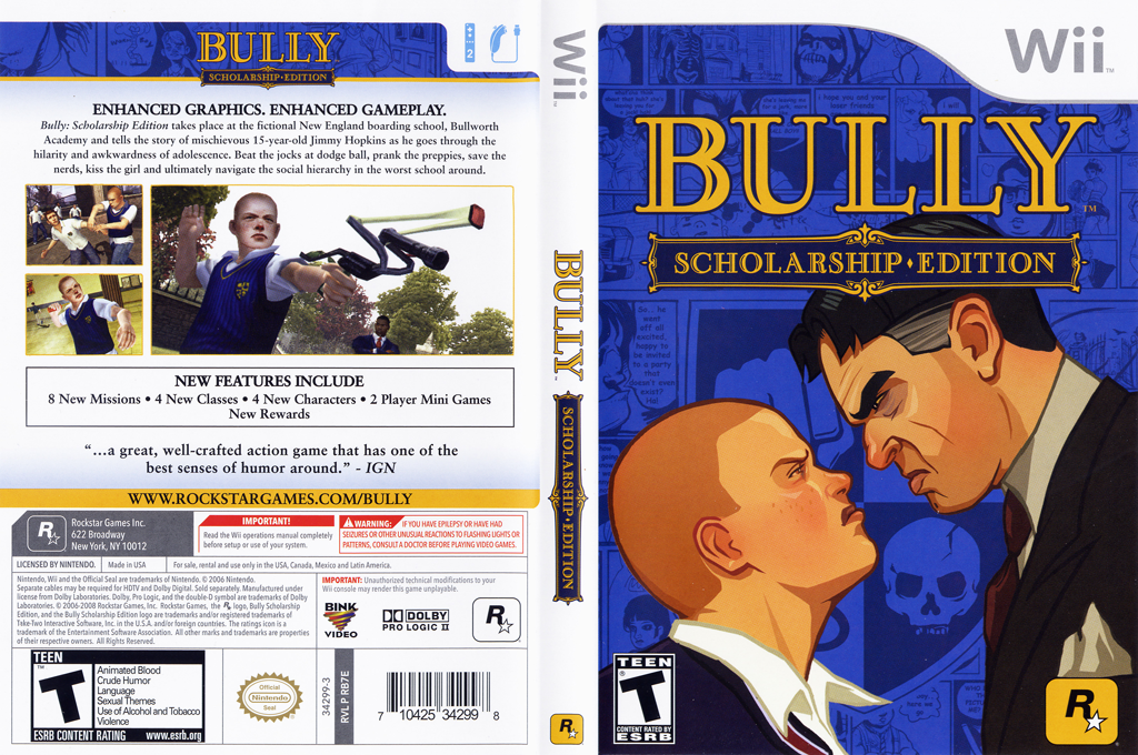 Bully: Scholarship Edition Wii coverfullHQ (RB7E54)