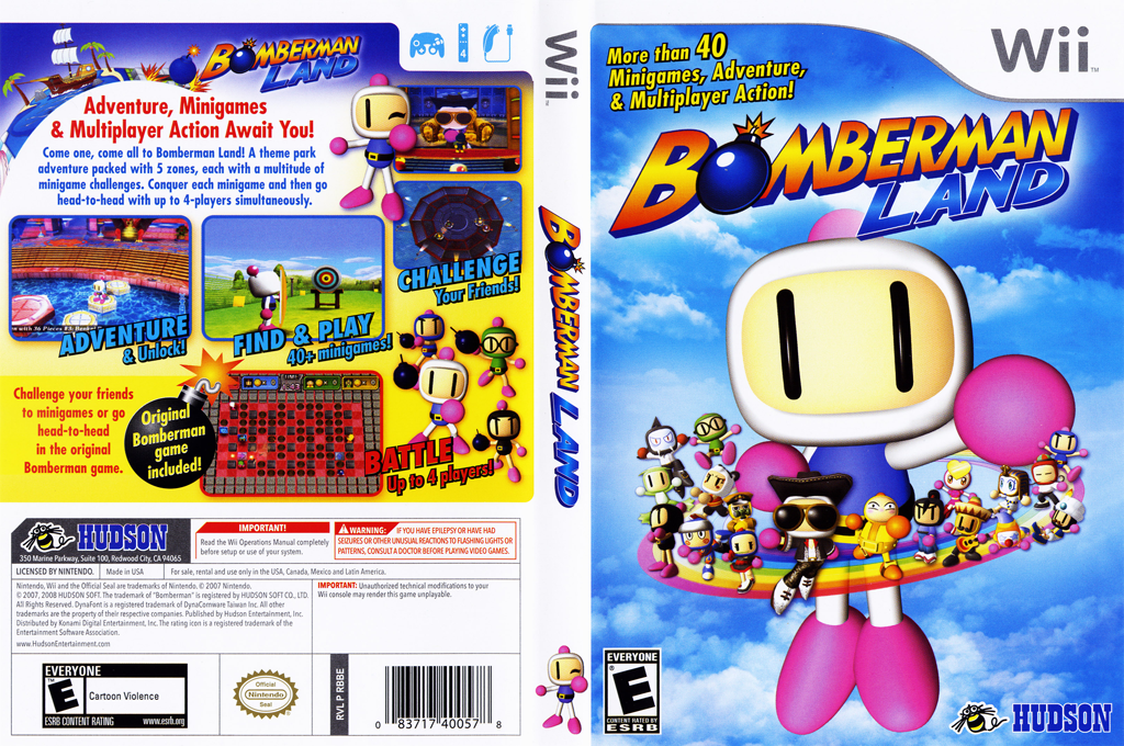 Bomberman Land Wii coverfullHQ (RBBE18)