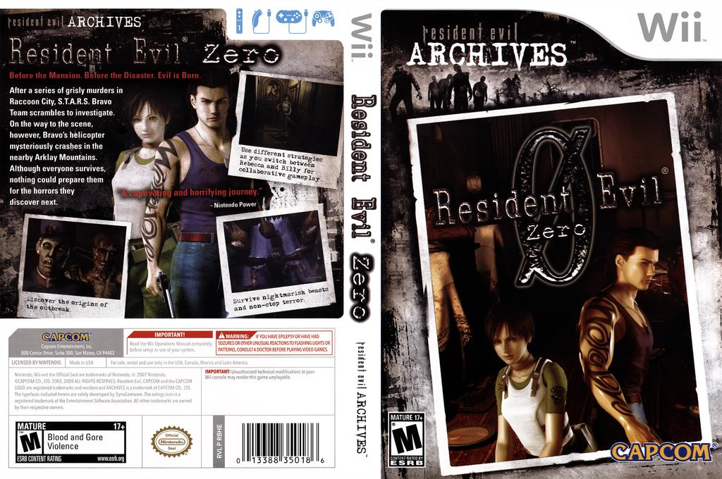 Resident Evil Archives: Resident Evil Zero Wii coverfullHQ (RBHE08)