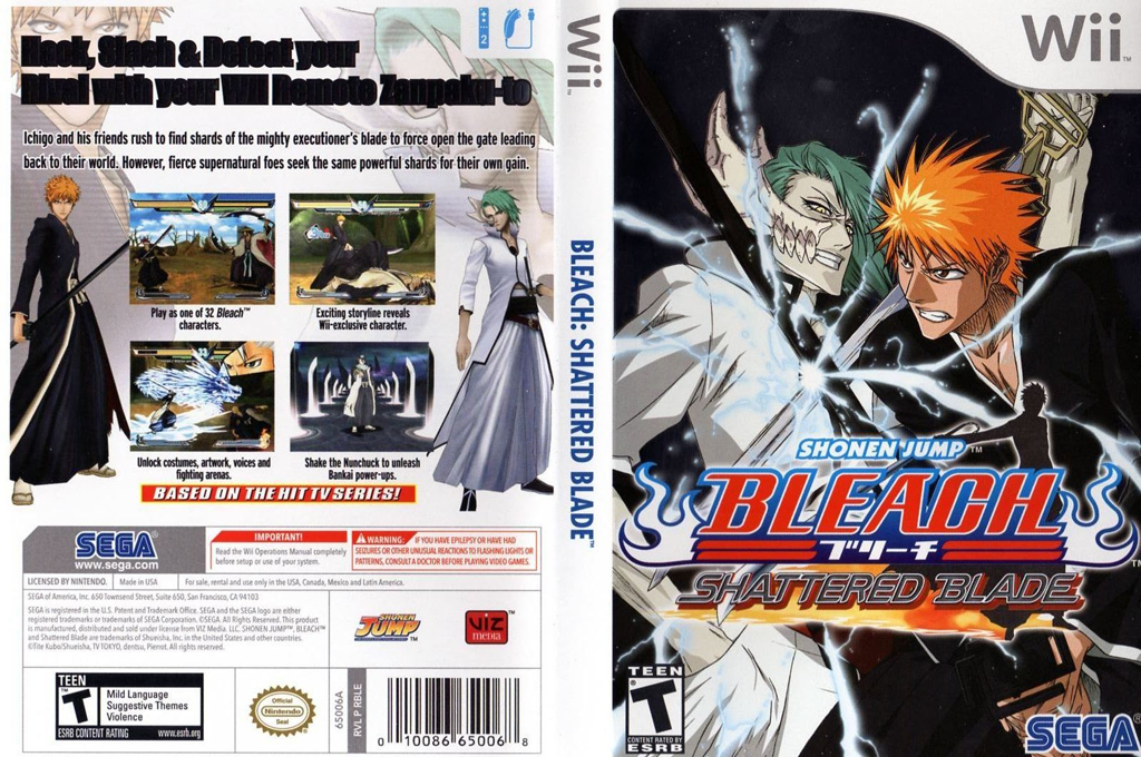 Bleach: Shattered Blade Wii coverfullHQ (RBLE8P)