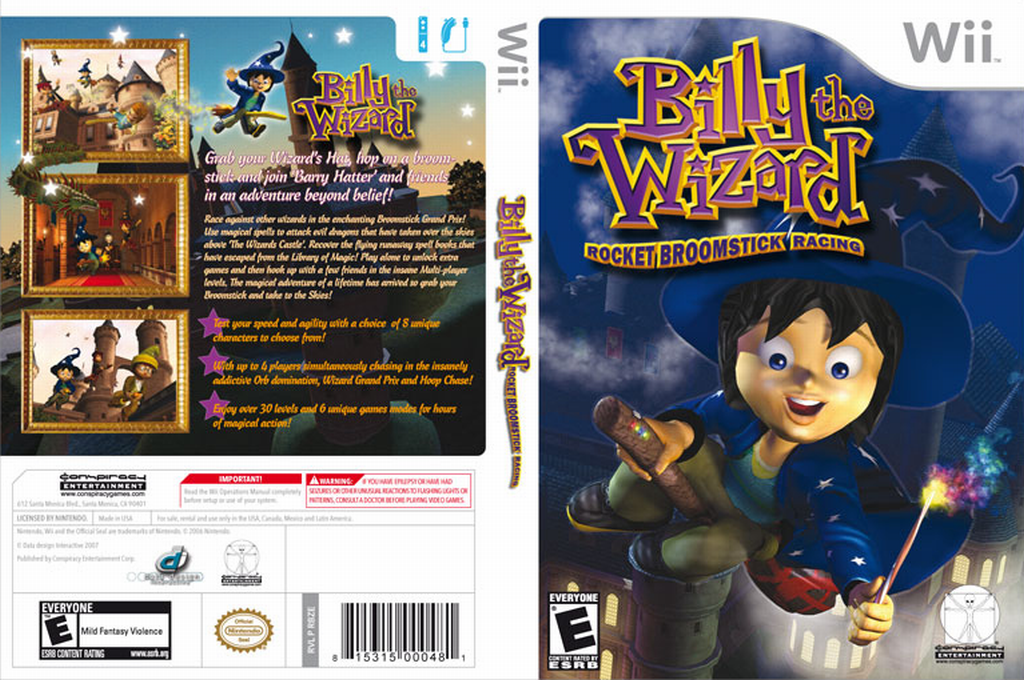 Billy the Wizard: Rocket Broomstick Racing Wii coverfullHQ (RBZE5Z)