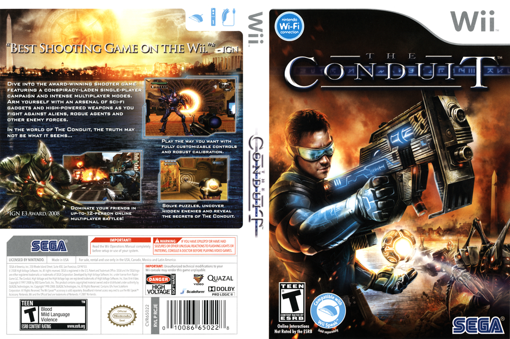 The Conduit Wii coverfullHQ (RCJE8P)