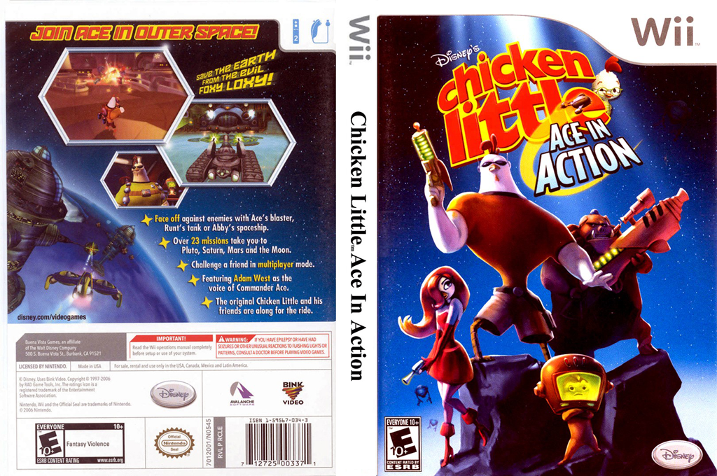 Disney's Chicken Little: Ace in Action Wii coverfullHQ (RCLE4Q)