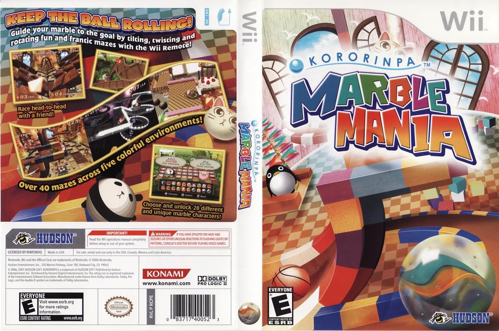 Kororinpa: Marble Mania Wii coverfullHQ (RCPE18)
