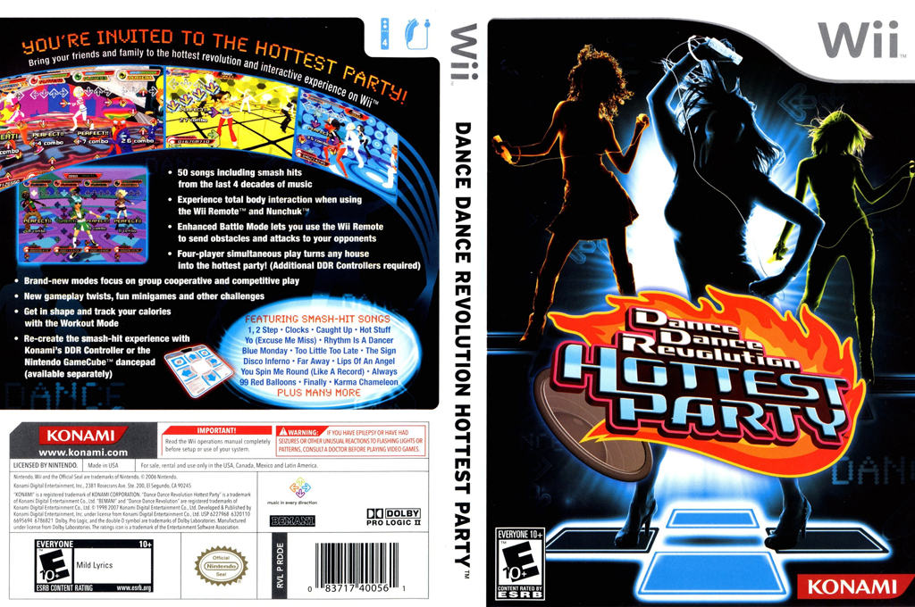 Dance Dance Revolution: Hottest Party Wii coverfullHQ (RDDEA4)