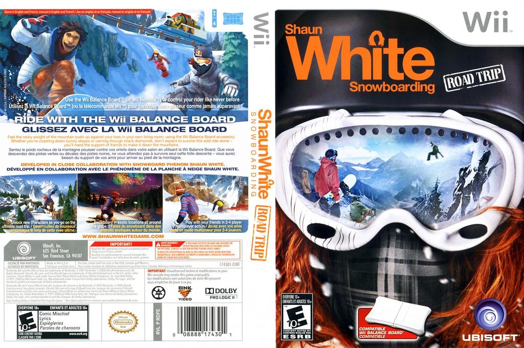 Shaun White Snowboarding: Road Trip Wii coverfullHQ (RDFE41)