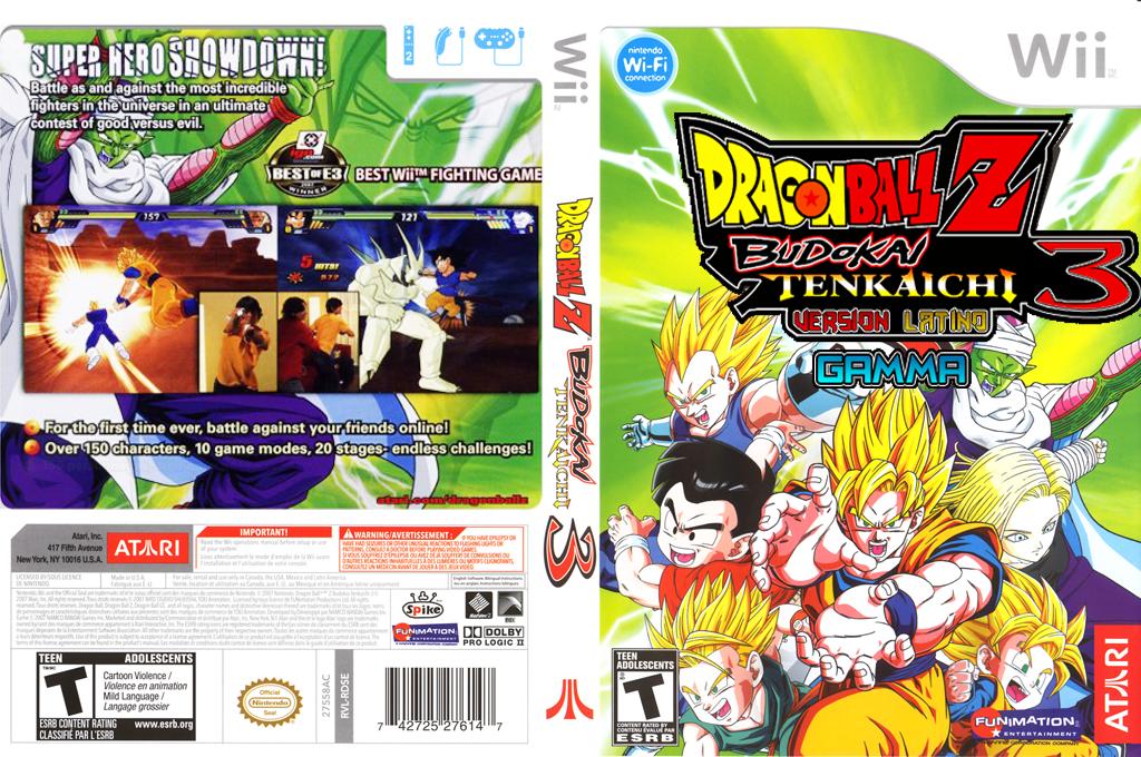 Dragon Ball Z Budokai Tenkaichi 3 Version! Latino[GAMMA][CUSTOM] Wii coverfullHQ (RDWE70)
