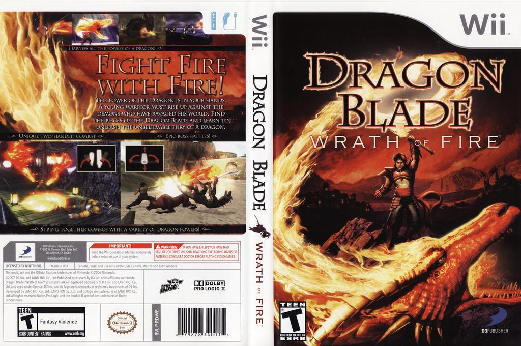 Dragon Blade: Wrath of Fire Wii coverfullHQ (RDWEG9)