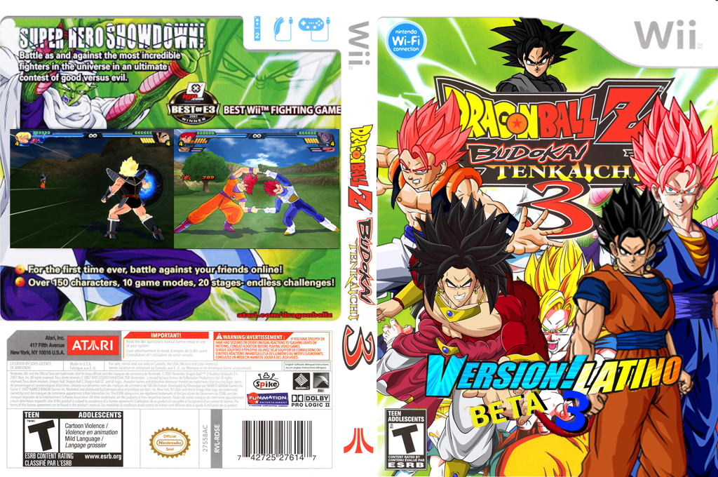 Dragon Ball Z Budokai Tenkaichi 3 Version! Latino Beta 3 Wii coverfullHQ (RDXE70)