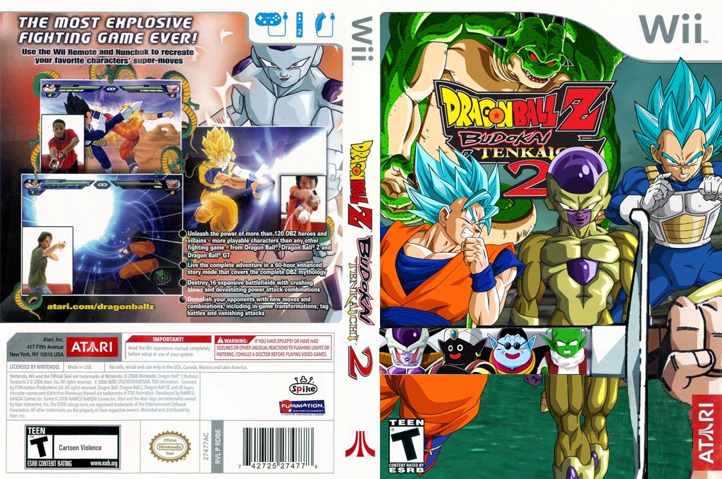 Dragon Ball Z Budokai Tenkaichi 2[ALPHA][CUSTOM] Wii coverfullHQ (REBE70)