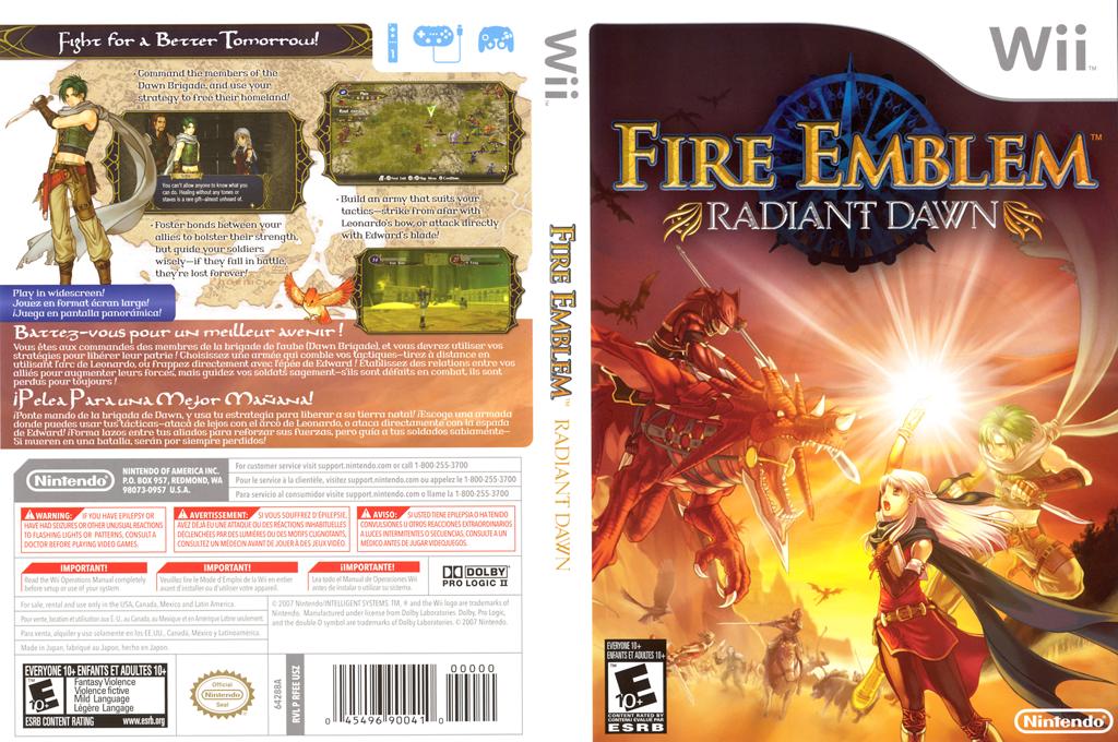 Fire Emblem: Radian Dawn Undub Wii coverfullHQ (RFEPUD)