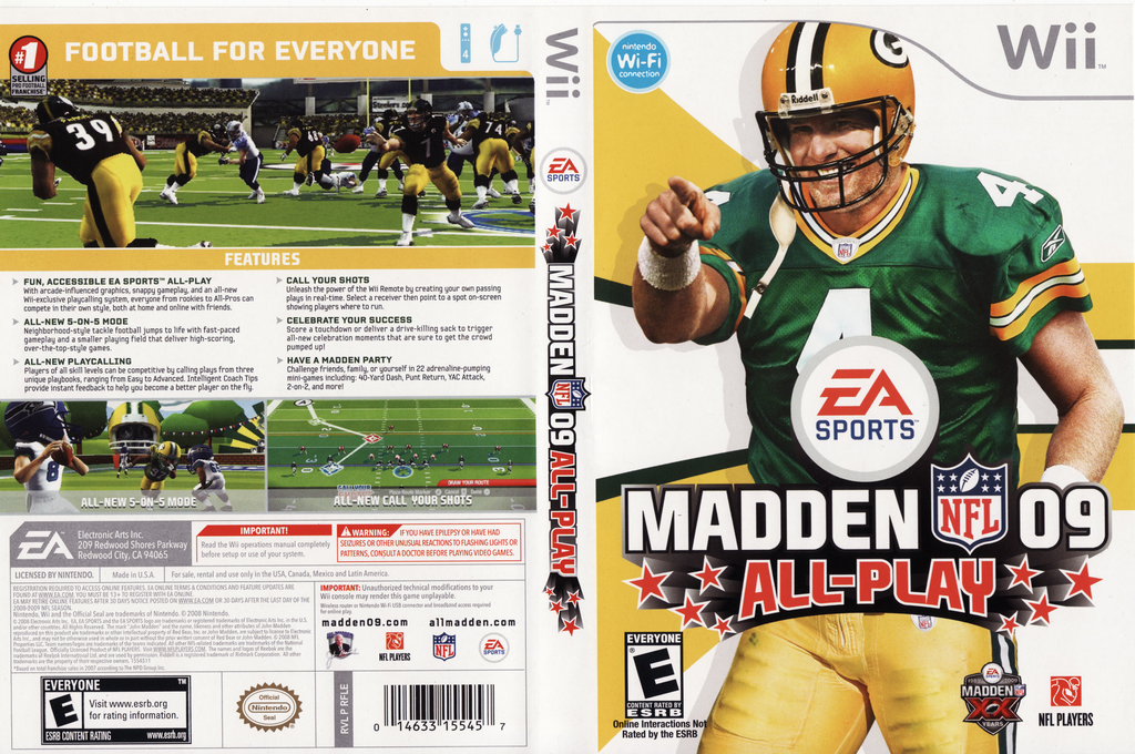 Madden NFL 09 All-Play Wii coverfullHQ (RFLE69)