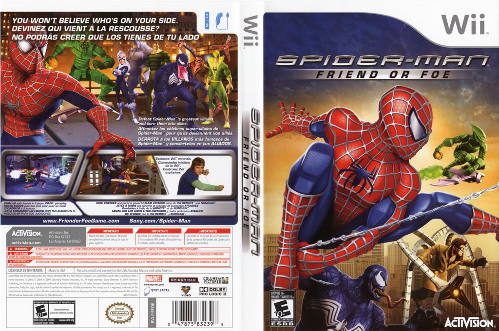 Spider-Man: Friend or Foe Wii coverfullHQ (RFOE52)