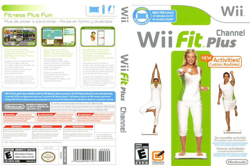 Wii Fit Plus Channel Wii coverfullHQ (RFPE)