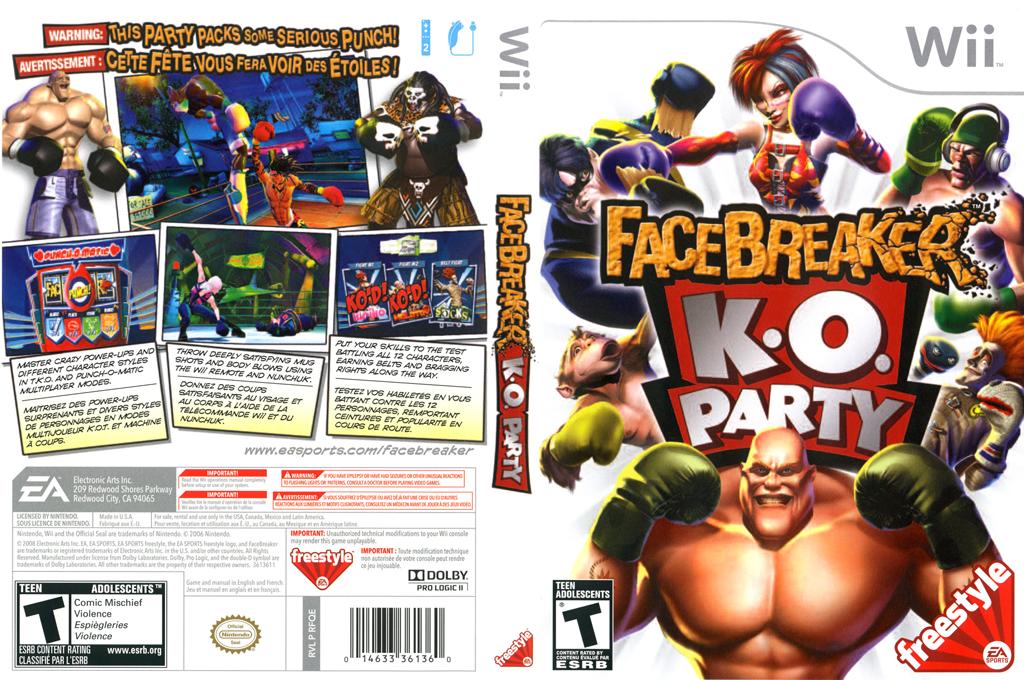 FaceBreaker K.O. Party Wii coverfullHQ (RFQE69)
