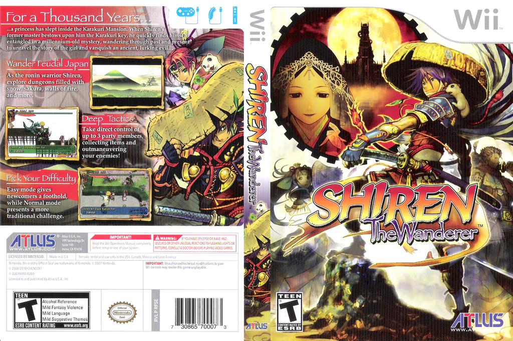 Shiren the Wanderer Wii coverfullHQ (RFSEEB)