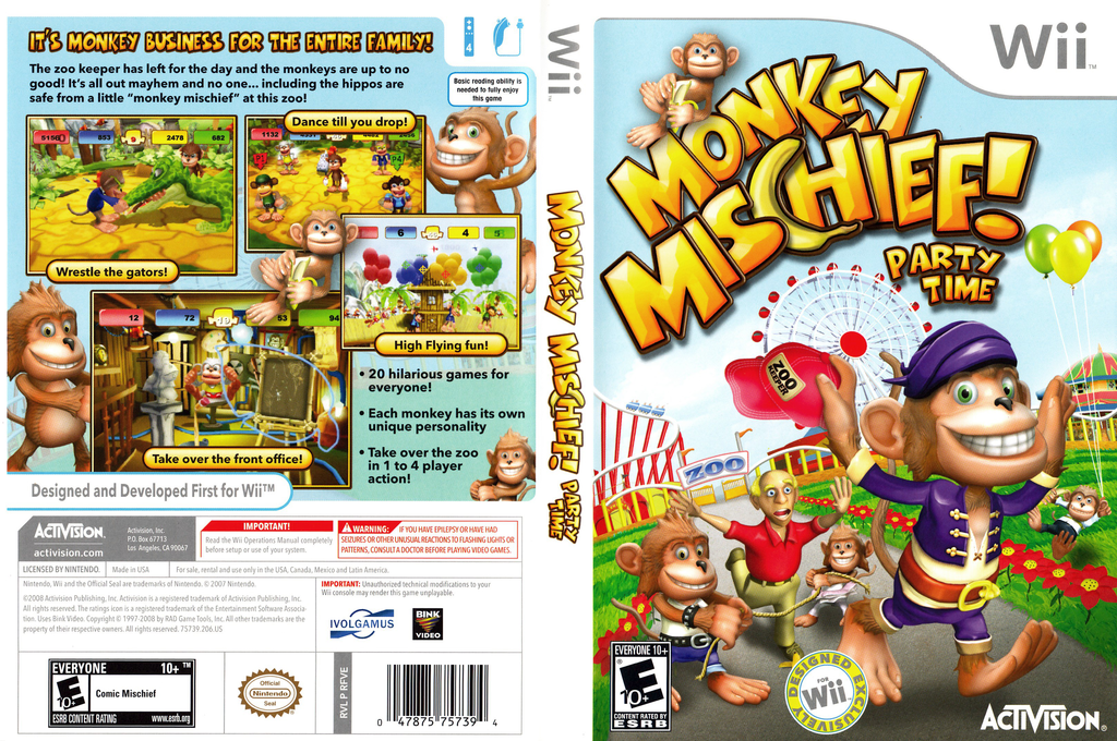 Monkey Mischief! Party Time Wii coverfullHQ (RFVE52)