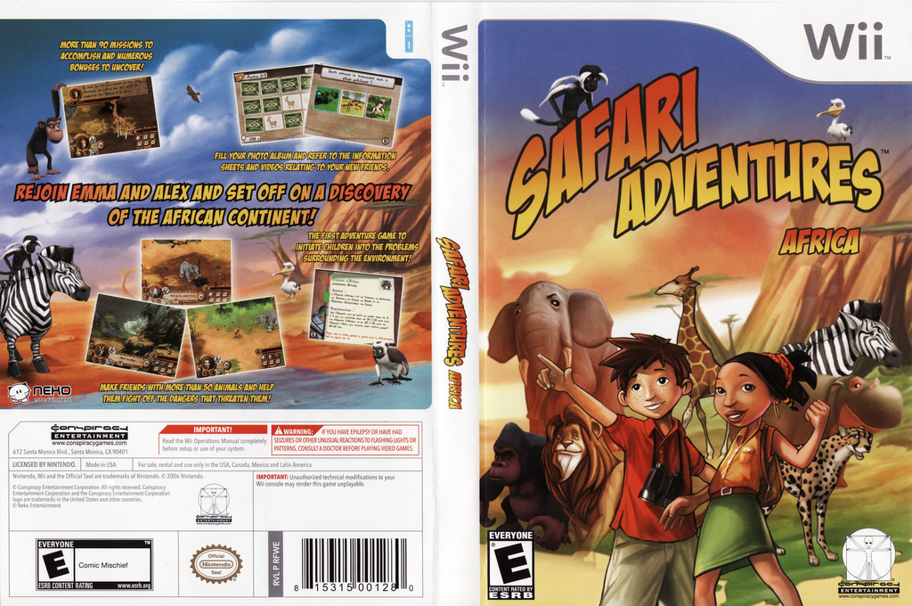 Safari Adventures Africa Wii coverfullHQ (RFWE5Z)