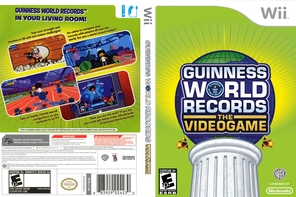 Guinness World Records: The Videogame Wii coverfullHQ (RG5EWR)